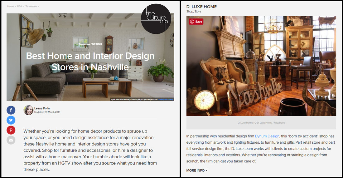 March 2018   D. Luxe Home Featured On The Culture Tripu0027s List Of Nashvilleu0027s  Best Home U0026 Interior Design Stores