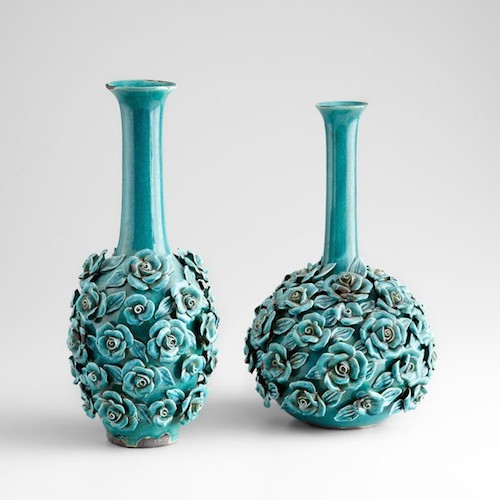 Blue rose vases - D. Luxe Home Nashville, TN