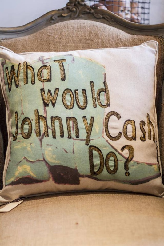 What Would Johnny Cash Do pillow -  - D. Luxe Home Nashville, TN