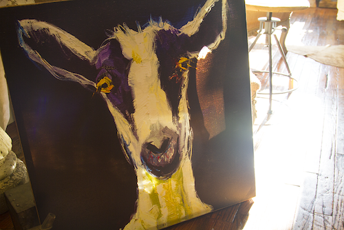 Goat on cavas - goat art -  - D. Luxe Home Nashville, TN